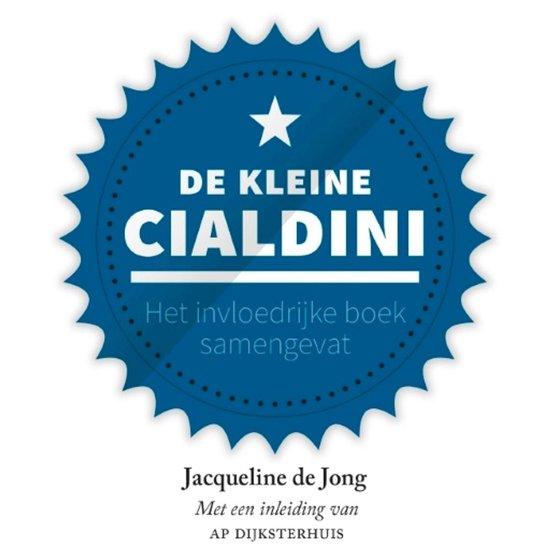 Boek cover De kleine Cialdini van Jacqueline de Jong (Onbekend)
