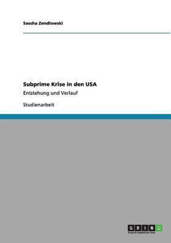Subprime Krise in den USA