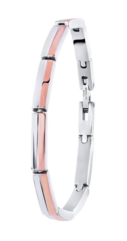 Lucardi - Stalen armband roseplated