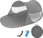 Pop up strand tent 245 cm x 145 cm x 95cm antraciet 401676