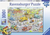 Ravensburger puzzel Voertuigen in de stad - Legpuzzel - 100 stukjes