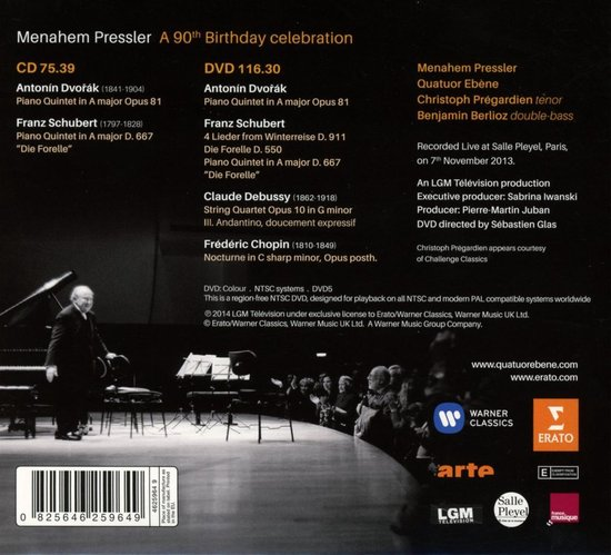 Menahem Pressler 90Th Birthday Celebration - Live in Paris