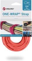 Velcro One-Wrap klittenband kabelbinders 200 x 12mm / oranje (25 stuks)