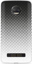 Motorola Z2 Force Hoesje zwart witte cirkels