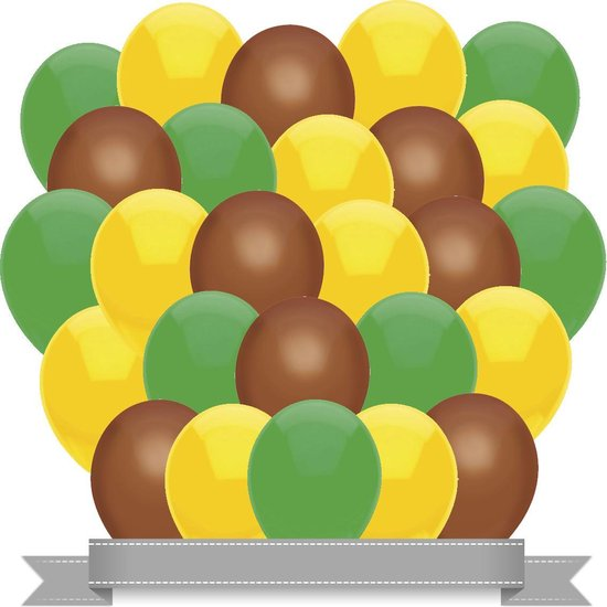 Ballonnen Geel / Bruin / Groen (30ST)