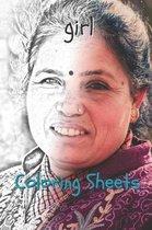 Girl Coloring Sheets