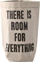 Bloomingville - Paper Bag - Papier - Grijs/Zwart
