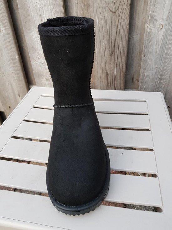 Davos waterdicht en bontgevoerde (stal)schoen zwart maat 35