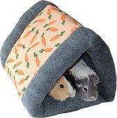 Knaagdier tunnel Snuggle 'n Sleep Wortel - Knaagdierspeelgoed - Grijs/Oranje - 37 x 31 x 25 cm