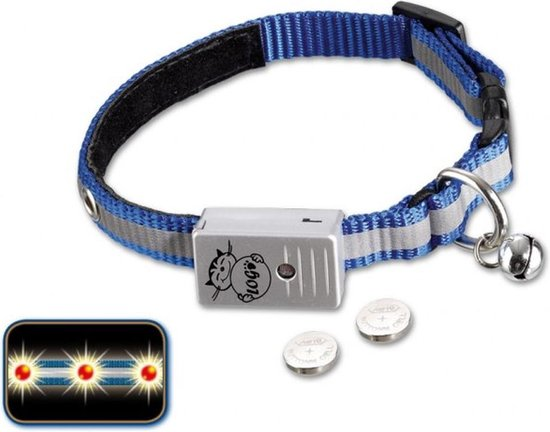 Nobby Starlight LED Halsband Kat - Blauw