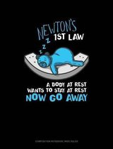 Newton's 1st Law a Body at Rest Wants to Stay at Rest Now Go Away