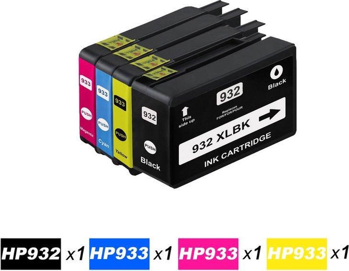 Merkloos – Inktcartridge / Alternatief voor de HP HP 932XL 933XL voor HP Officejet 6600 6100 6700 / Zwart / Cyaan / Magenta / Geel / Hoge Capaciteit - Quick Supplies B.V.