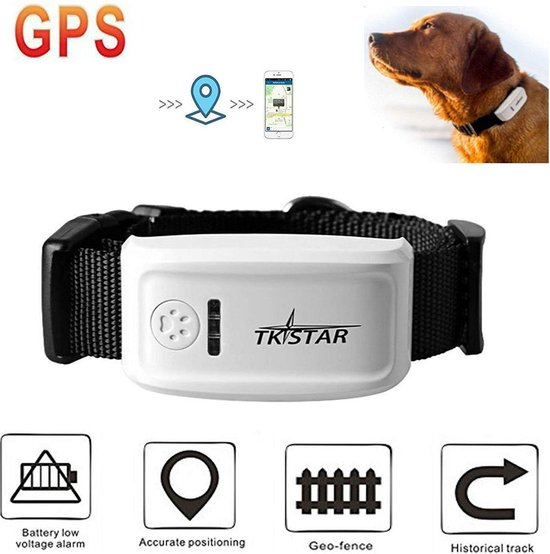 TKSTAR GPS Pet Tracker voor grote honden GPS Tracker Locator - huisdier kraag- Real Time Tracking - Android & iPhone Apps