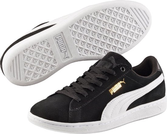PUMA Vikky Sfoam Sneakers Dames - Puma Black / Puma White - Maat 38.5