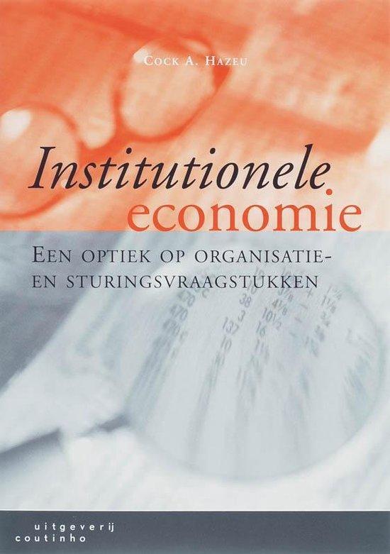 Institutionele economie - C.A. Hazeu | Fthsonline.com