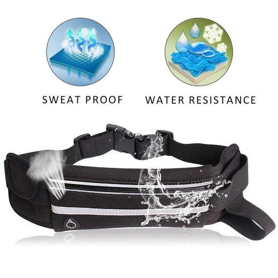 Heuptasje sport – running belt – hardloop heuptas - verstelbare buideltas - zwart
