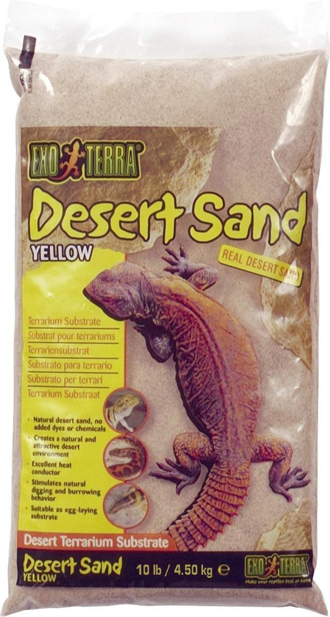 Exo Terra Woestijnzand - Bodembedekking - 4,5 kg - Geel