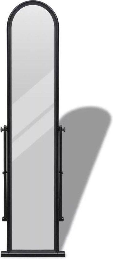 Passpiegel staande spiegel passpiegel vloerspiegel staand zwart 38x43x152cm