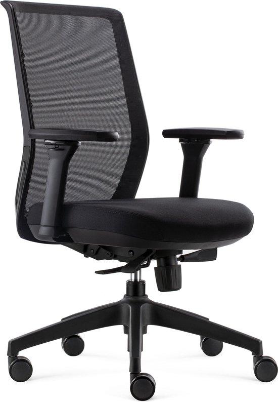BenS 837 Ergo 4 Ergonomische Bureaustoel Alle instelopties EN1335 & Arbo norm Zwart