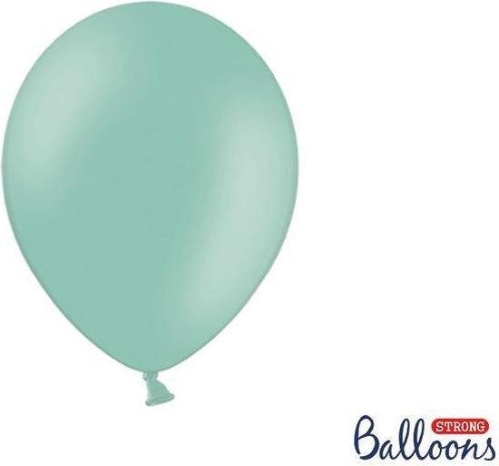Strong Balloons 27cm, Mint groen (1 zak met 50 stuks) super sterke ballonnen