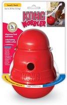 Kong Wobbler - Hondenspeelgoed - Rood - S - 15 x 11 cm