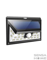 SensaHome Solar Lamp 24 Led met Bewegingssensor en Nachtsensor - Buitenverlichting - Slimme lamp - Tuinverlichting op Zonne-energie - IP65 Waterdicht - Voor Tuin/Wand/Oprit