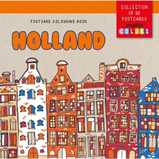 Postcard colouring book Holland - none |