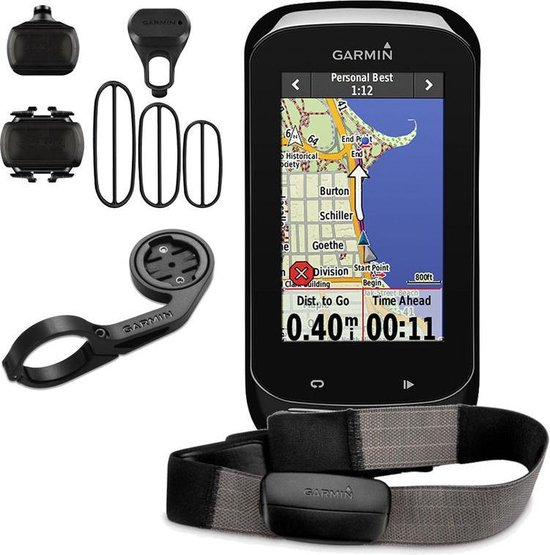 Garmin Edge 1000 HRM/CAD bundel- Fietscomputer incl hartsladband en cadans sensor - 3.0 inch scherm - zwart