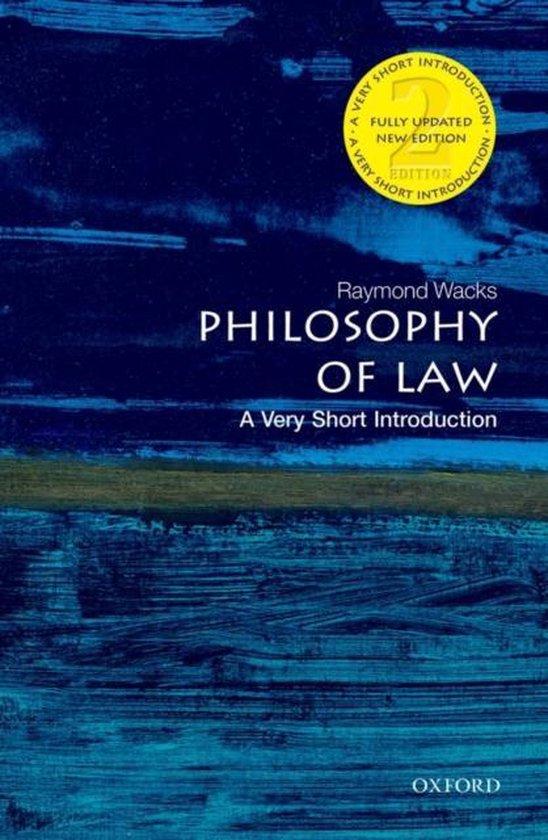 Boek cover Philosophy of Law van Raymond Wacks (Paperback)