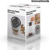 Elektronische Digitale Spaarpot - Transparant   Grijs