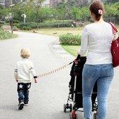 Veiliheids polsband kinderen – anti wegloop wandelkoortje - flexibel en elastisch looplijn peuter van 2,5 – blauw