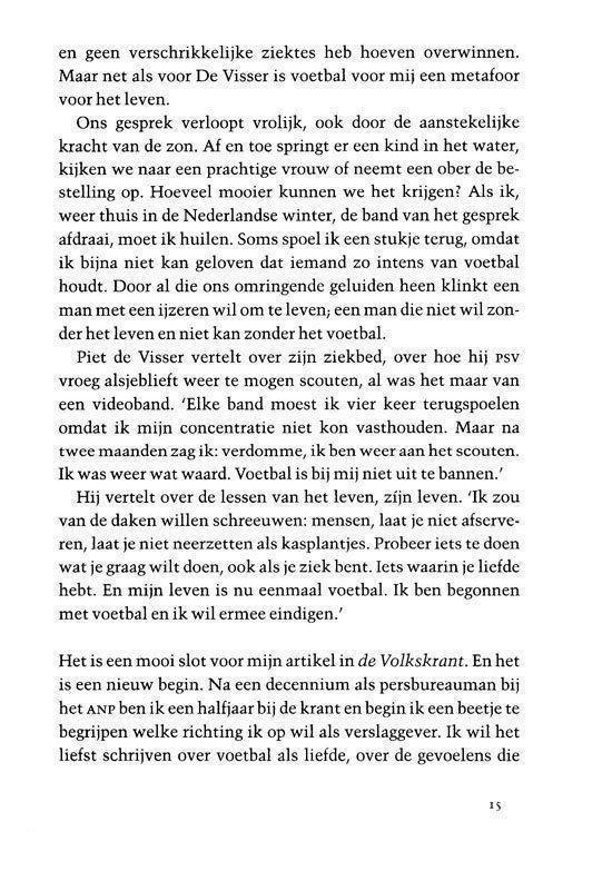 Voetbal is liefde - Willem Vissers |