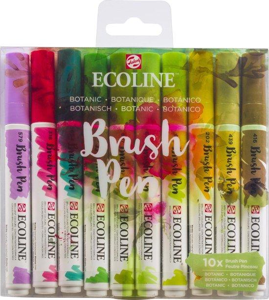 Afbeelding van Talens Ecoline Brush Pen - 10 stuks - Botanisch - Brushpen speelgoed