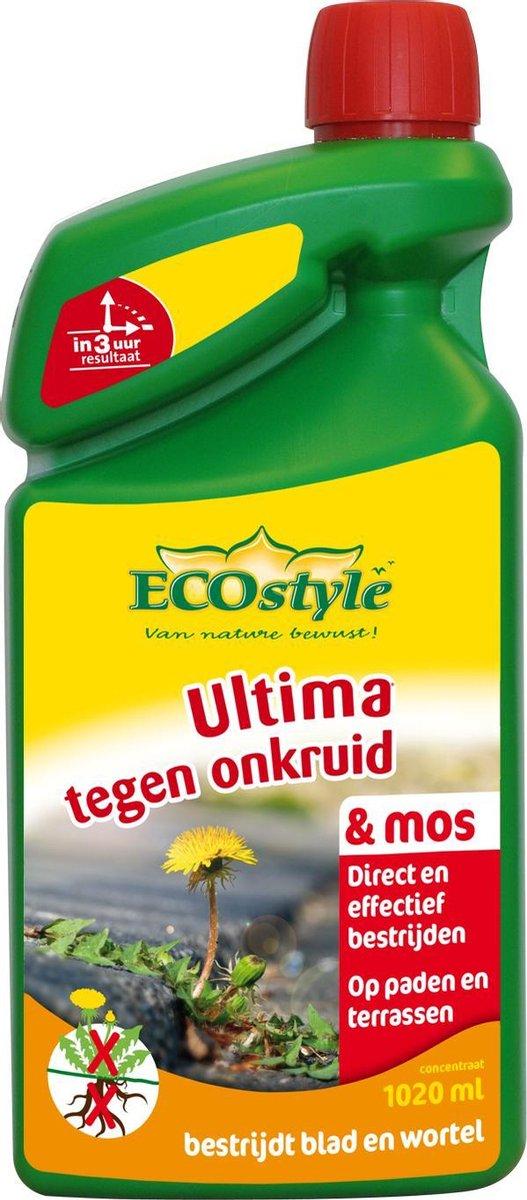 ECOstyle Ultima onkruid & mos - bestrijdt wortel en blad - concentraat 1020 ml