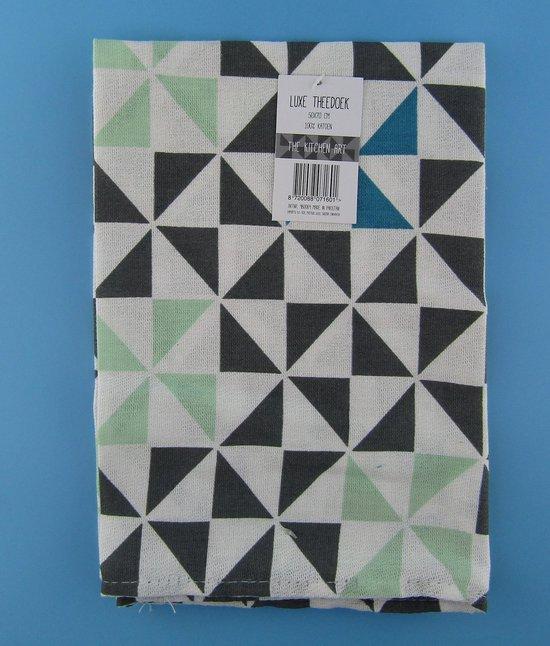 Theedoek -Theedoeken - 50x70 cm - Keukendoek - Keukendoeken - Zwart - Katoen - 2 stuks