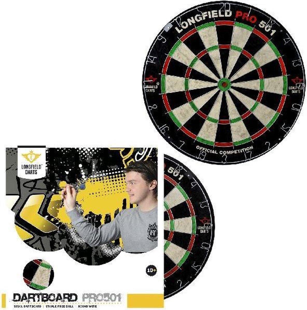 Longfield Dartbord Pro 501 Sisal - Speelgoed - Sport en Spel