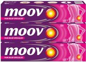 Moov Cream - Fast Pain Relief | Pijn Verlichting Zalf - 50g | MultiPack | Plantaardige Ingrediënten | 3 stuks
