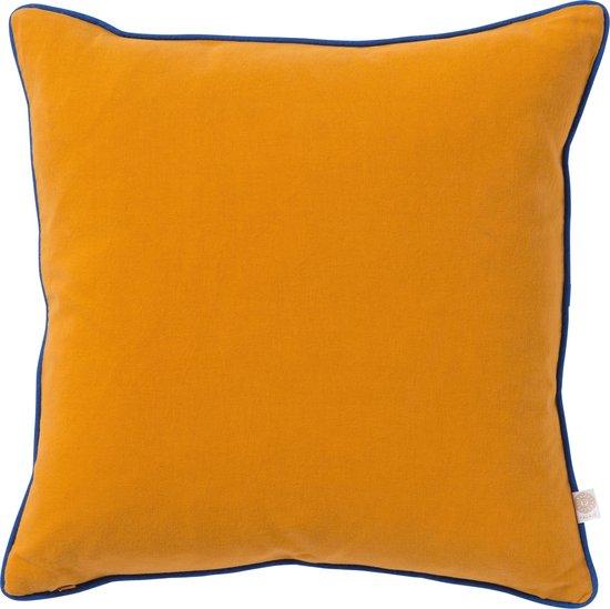 PALAIS - Kussen Grace Oranje - 100% biologisch canvas - Handgemaakt - Duurzaam