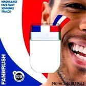 Schminkstift - Nederlandse vlag - Rood / wit / blauw - 4,8gr