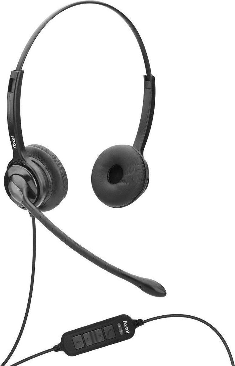 Axtel MS2 duo USB koptelefoon (voor PC/Laptop)