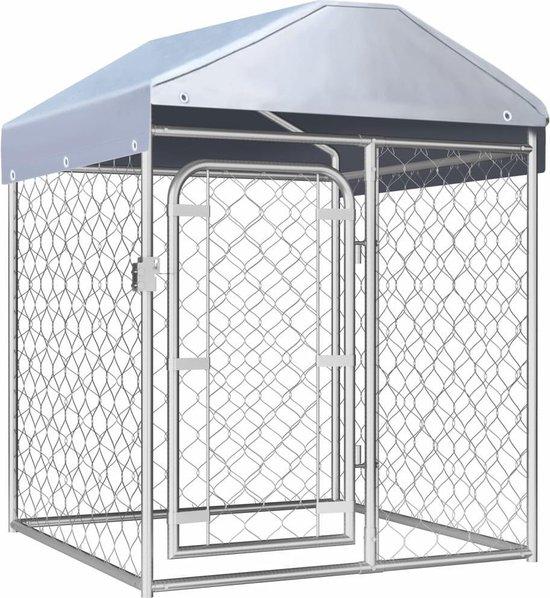 Hondenkennel voor buiten met dak 100x100x125 cm