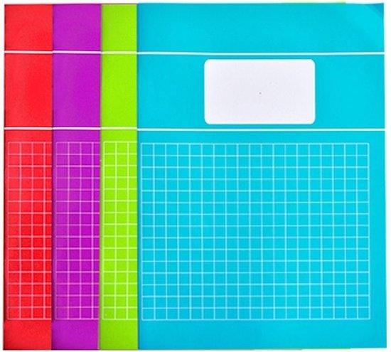 Afbeelding van Verhaak 5-pak schriften - Ruit 10mm - A4 Formaat - Trend - Groen / Blauw / Rood / Paars speelgoed