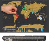 Scratch map deluxe / kras wereldkaart XL - Zwart