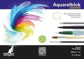 Aquarelpapier Kangaro 24x17cm - 300 gr 16 vel, roomwit zuurvri