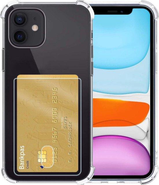 iPhone 11 Hoesje Met Pasjeshouder Transparant Met Kaarthouder - iPhone 11 Hoesje Transparant Shock Proof Case Pashouder Hoes