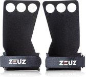 ZEUZ® RX Fitness & Crossfit Grips – Sport Handschoenen – Turnen – Gymnastics – Zwart – Maat M
