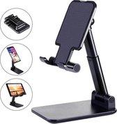 Telefoon Tablet Houder - Opvouwbaar en Verstelbaar - Zwart