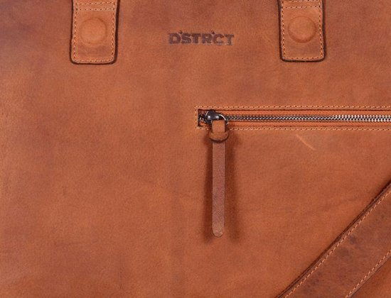 DSTRCT Wall Street Laptoptas - 15,4 inch - Cognac - DSTRCT