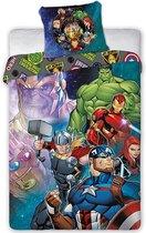 Marvel Avengers Dekbedovertrek True Heroes - Eenpersoons - 140 x 200 cm - Katoen