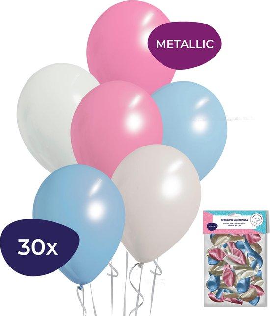 Babyshower Versiering - Gender Reveal Versiering - Helium Ballonnen - 30 stuks